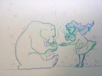 Warm tea and cookies by Ninons