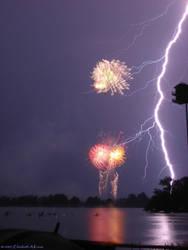 Lightning on the Lake by Odoriko-chan
