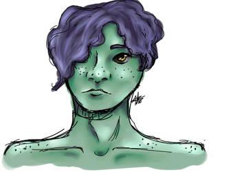 The Swamp monster (oc) by StarlightArtt
