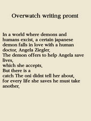 Overwatch Writing Promt 1 by StarlightArtt