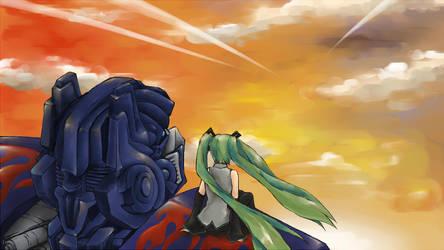Optimus prime Miku by haseo1333