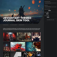 DeviantArt Themed Journal Skin Tool by marioluevanos
