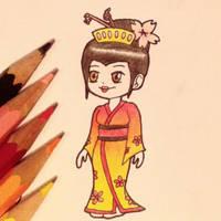 Sunset geisha by Dreaming-Demon