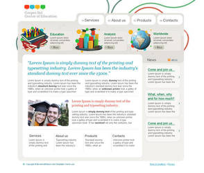 Education template by bevel-and-emboss