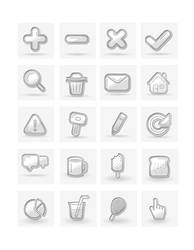Free Minimal Icon Set by bevel-and-emboss