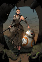 Rey and BB-8 by KaRolding