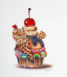 Cherry cupcake by fomhar-orga