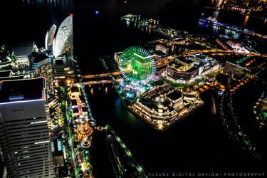 A Twilight City, Yokohama Japan by YusukeDigitalDesign