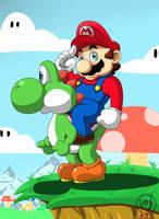 Mario and yoshi by MKitt
