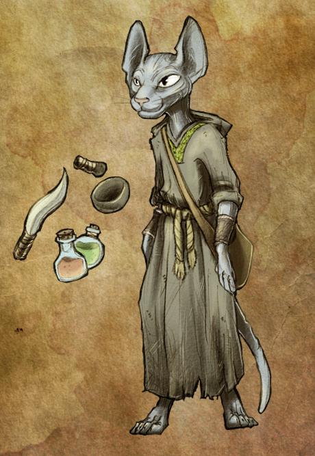 Sphynx druid by JuKii