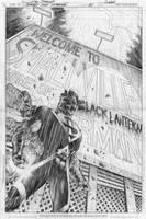 BLACKEST NIGHT SUPERMAN COVER by eddybarrows