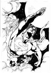 SUPERMAN, CAPA PANINI by eddybarrows