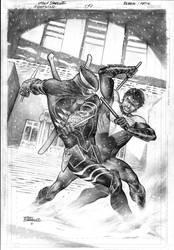 Nightwing 9 Cover by eddybarrows