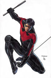 Nightwing #0 cover by eddybarrows