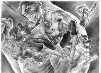Marvel Universe by eddybarrows