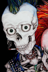 Punk's Not Dead Detail I by styrofoam-SKELLETON
