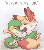 Never Give Up by aki-ta
