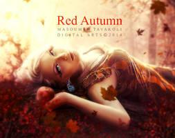 Red Autumn by DigitalDreams-Art