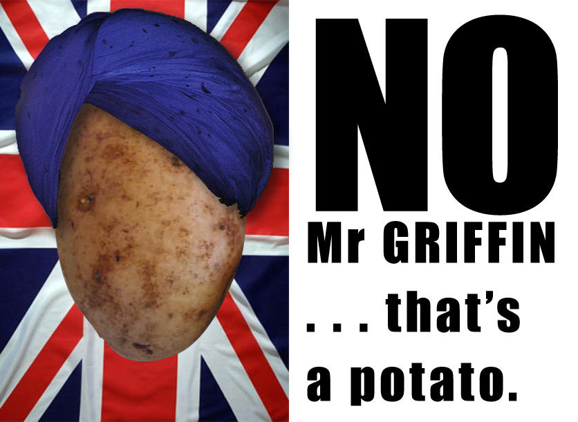 NO Mr Griffin that's a potato by originalsyna