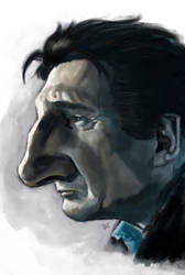 Liam Neeson Caricature by burnt8bit