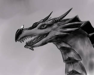 Dragon sketch by blackcosmogirl