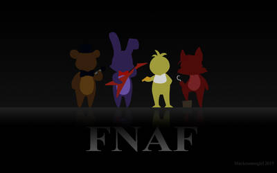 FNAF wallpaper 1680 x 1050 by blackcosmogirl