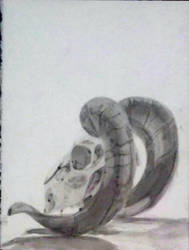 Ink Skull by sketchdoll07