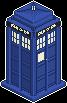 Tiny TARDIS by Aglassman