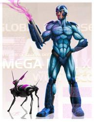 Megaman, and Rush by ogi-g