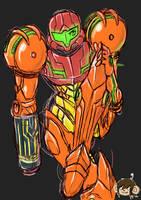 samus sketch by Ajax098