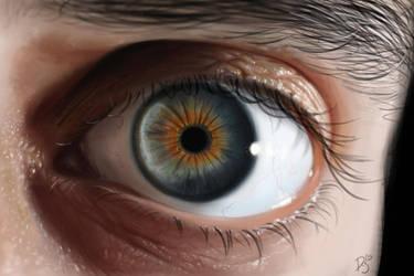 Realistic eye study by DyanerisArt