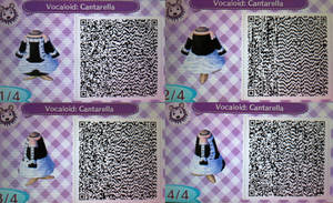 ACNL QR Code:  Hatsune Miku's Cantarella Dress by Lovi-My-Chibi-Tomato