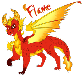 Flame the Dragon by Bro-chaan
