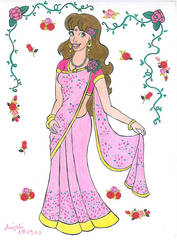 Etoile In Pink Saree by AnneMarie1986