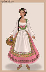 French Folkrole Kalini by AnneMarie1986