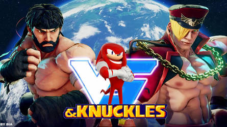My hot wallpaper and Knuckles by biachunli