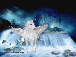 Fantasy Unicorn by MiloshJevremovic