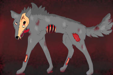 Zombie wolf attempt 2 by Jess-96
