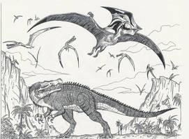 Pterosaur Island by HodariNundu