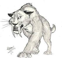 Pyscho Smilodon? by HodariNundu