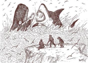 Battle of the Sea Monsters by HodariNundu