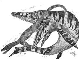 Cymbospondylus wants a snack by HodariNundu