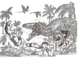 Australovenator attack by HodariNundu