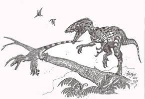 The compy that ate raptors by HodariNundu