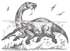 Lurdusaurus, aka Dinoppotamus aka Mokele Mbembe? by HodariNundu