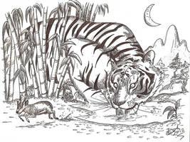 Ngandong tiger by HodariNundu