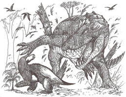 Not so fast, mammals!! by HodariNundu
