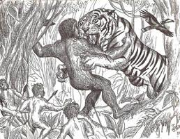Clash of the Giants by HodariNundu