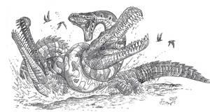Prehistoric Pileup by HodariNundu