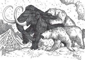 Mammoth Hunt by HodariNundu
